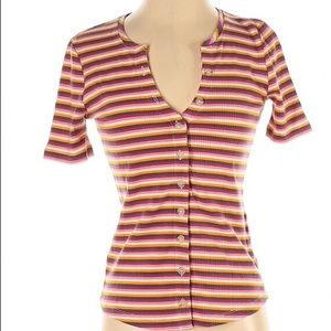 Anthropologie striped summer Top